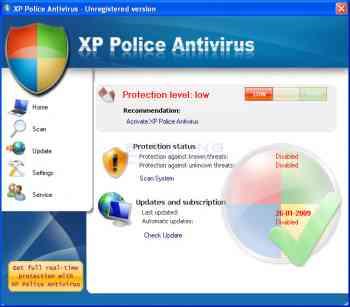 XP Police Antivirus Image