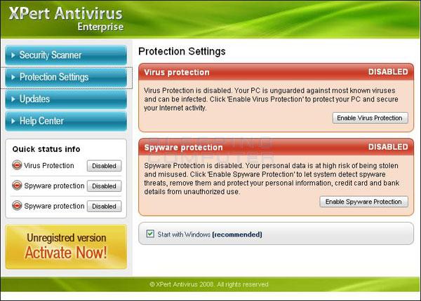 Screen shot of XPert Antivirus Enterprise