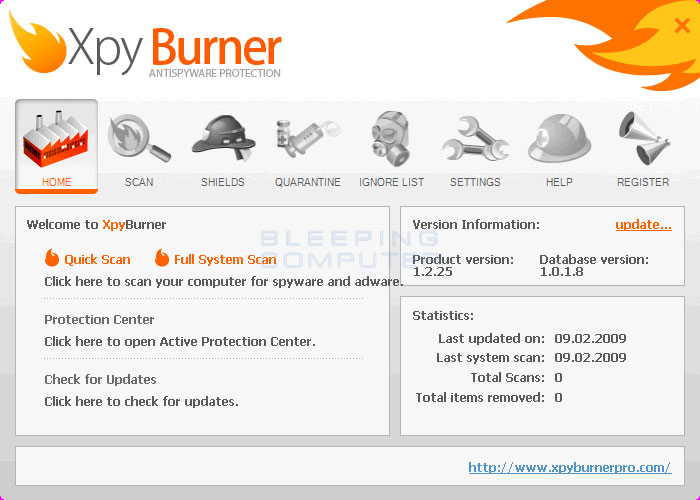 XpyBurner screen shot