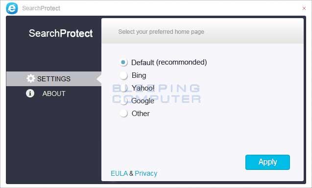 XTab and SearchProtect screen shot