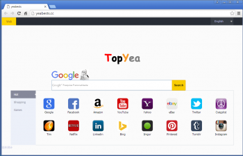 How to remove the Yeabests.cc and TopYea Browser Hijacker Image