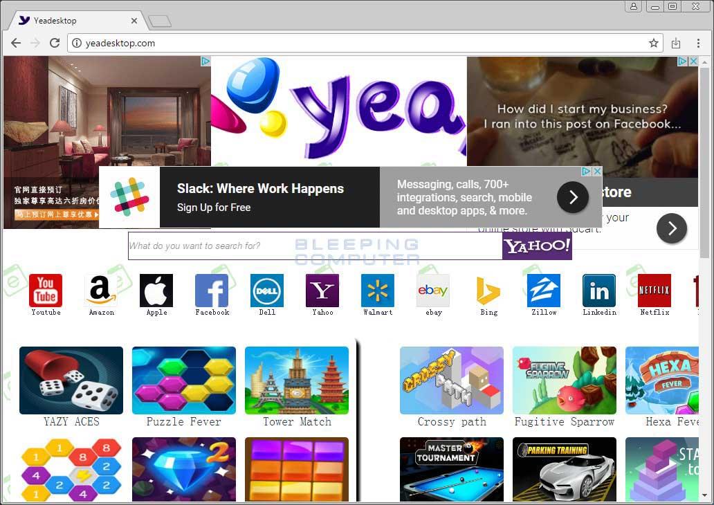 Yeadesktop.com Home Page