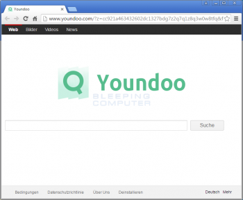 Youndoo.com Browser Hijacker Screenshot