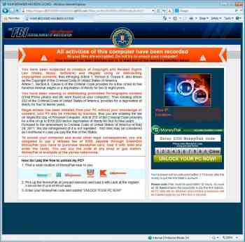 Your browser has been locked Ransomware Image