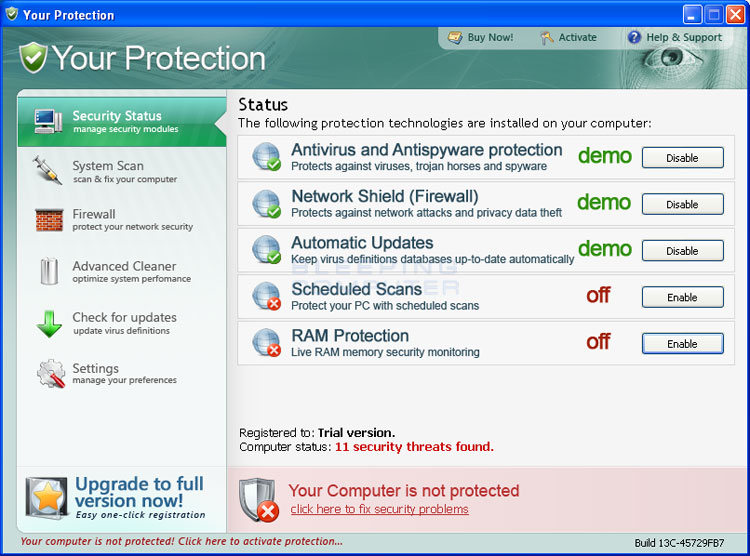 Your Protection screen shot
