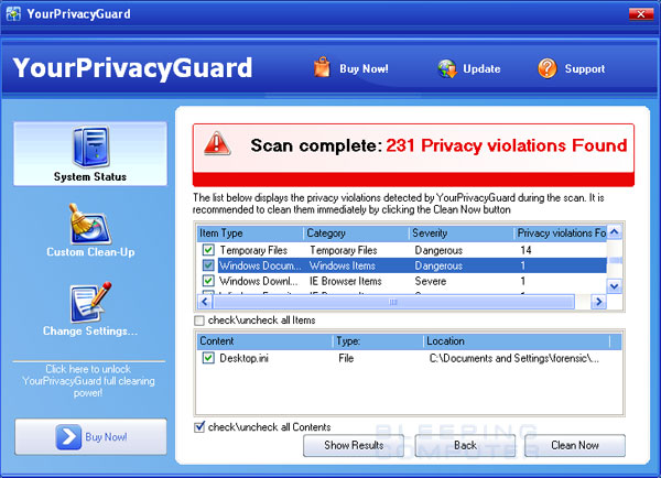 YourPrivacyGuard Screenshot