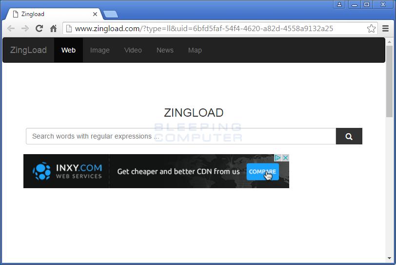 Zingload.com Browser Hijack