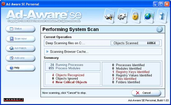 Scanning your computer
