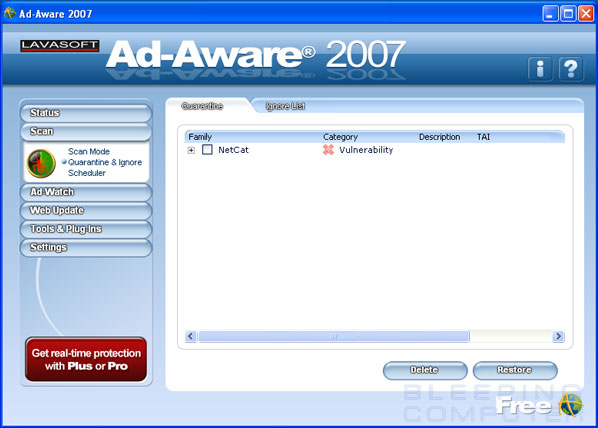 Ad-Aware Quarantine