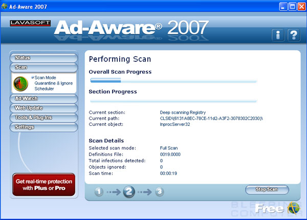 Scanning your computer with Ad-Aware