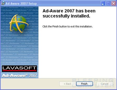 Ad-Aware 2007 Setup Finished