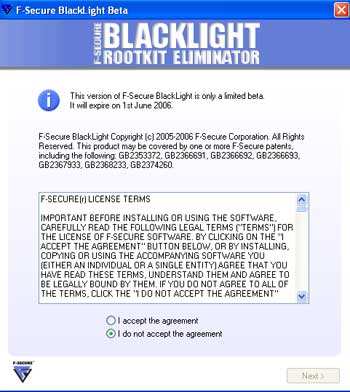 F-Secure Blacklight Agreement