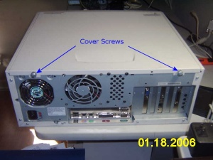 Location of Coverscrews