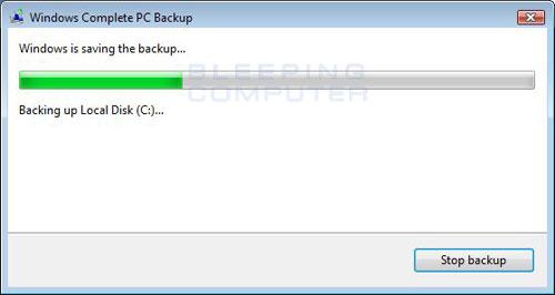 Creating backup image