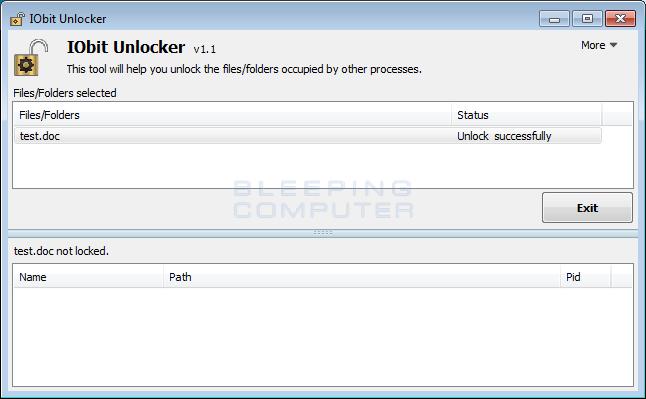 Unlocked File