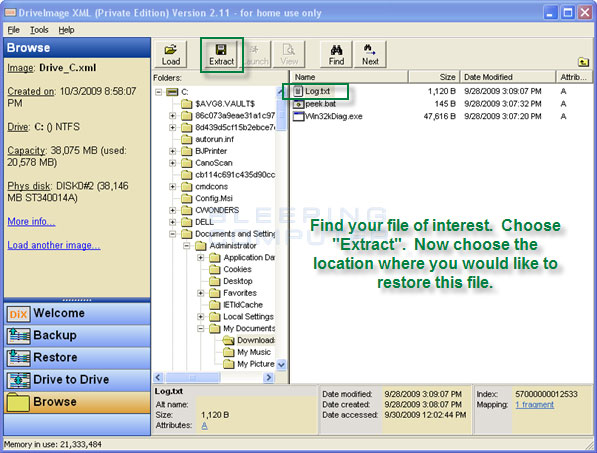 how to backup and restore your hard drive with driveimage xml