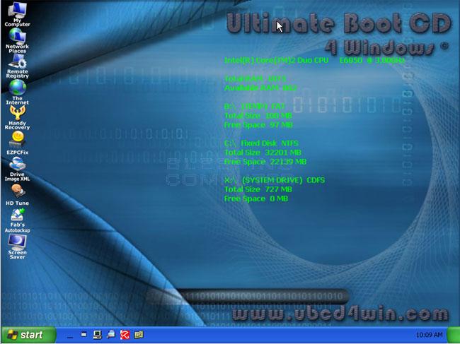 UBCD4Win Desktop