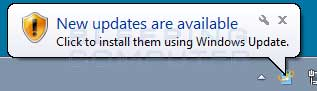 Windows 7 Updates Alert
