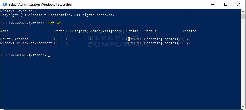 Get-VM PowerShell Command