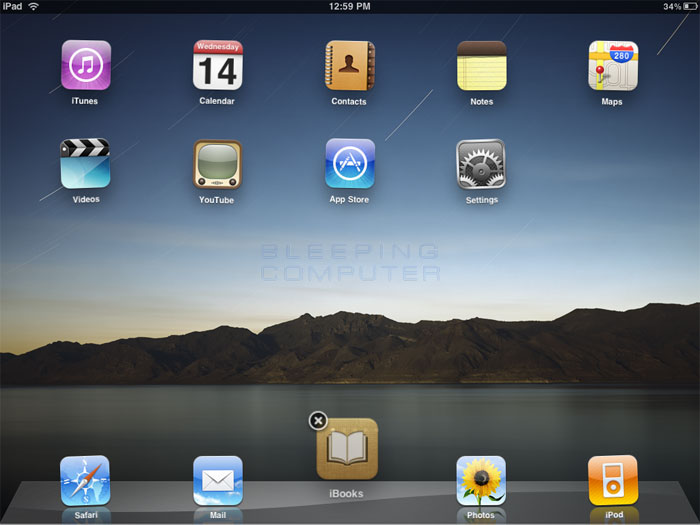 Add an app to the dock on the iPad