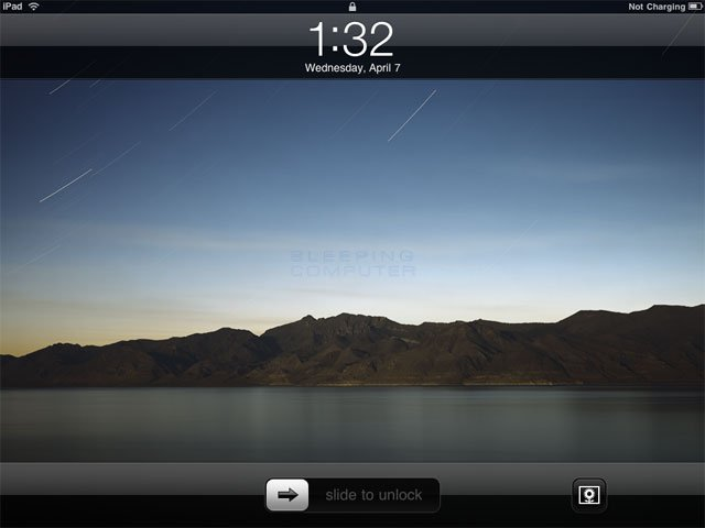 iPad Locked Screen