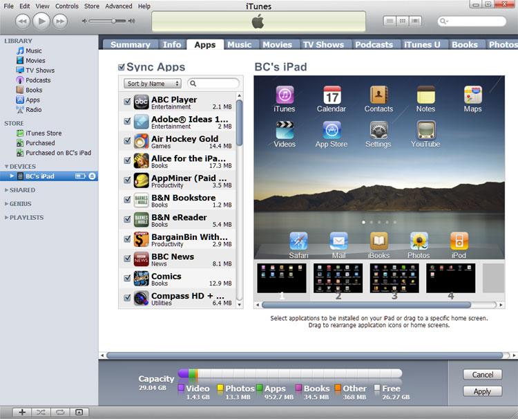 Device's App Tab