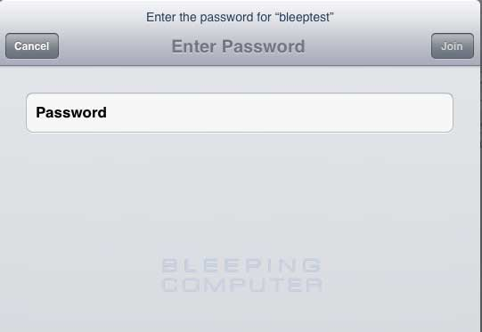 Enter your wireless network password