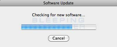 Checking for new software updates