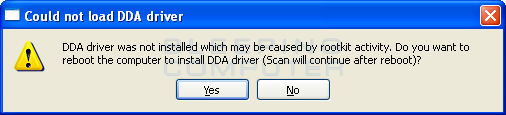 DDA Driver warning
