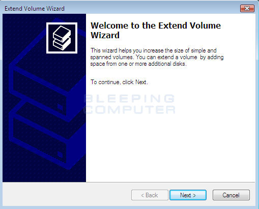 Windows Vista Expand Wizard