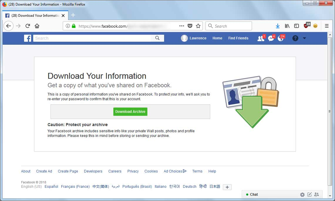 How to Backup Your Facebook Posts, Images, and Data