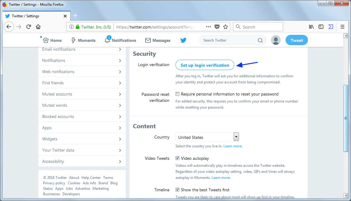 How to Setup Login Verification in Twitter
