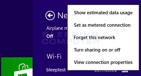 Forget network option