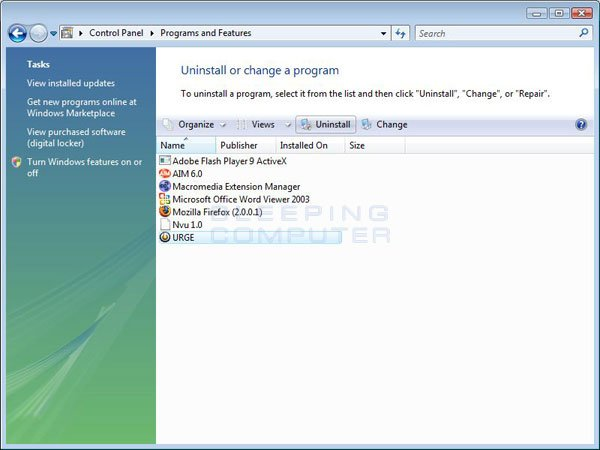 How to uninstall a program in Windows Vista, Windows 7, and Windows 8