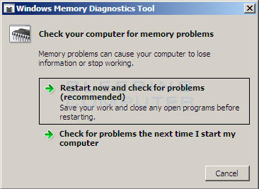 When to run the Windows Memory Diagnostics Tools