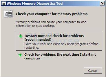 When to run the Windows Memory Diagnostics Tools
