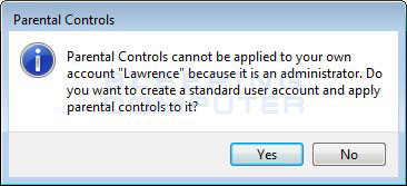 Cannot apply to an administrator