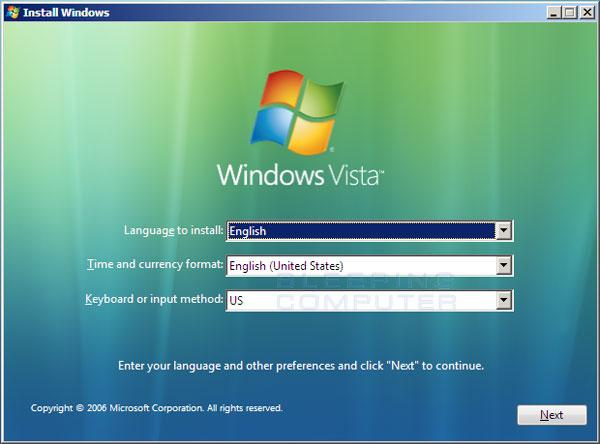 Restauration Systeme Windows  Starter