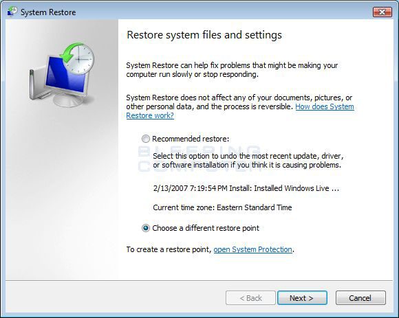 How to Force a System Restore if Windows Vista Won t Run