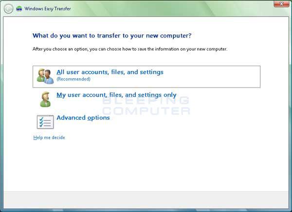 Data Transfer Options
