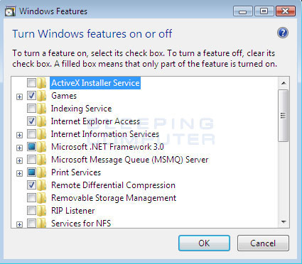 Windows Vista Feature List