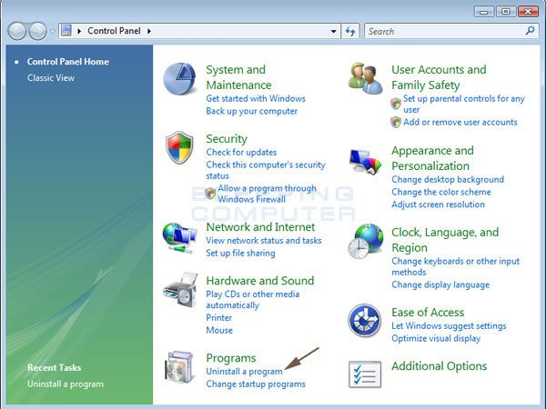 How to uninstall a program in Windows Vista, Windows 7, and