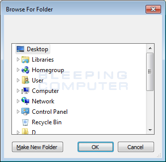 Shadow Explorer Browse Prompt