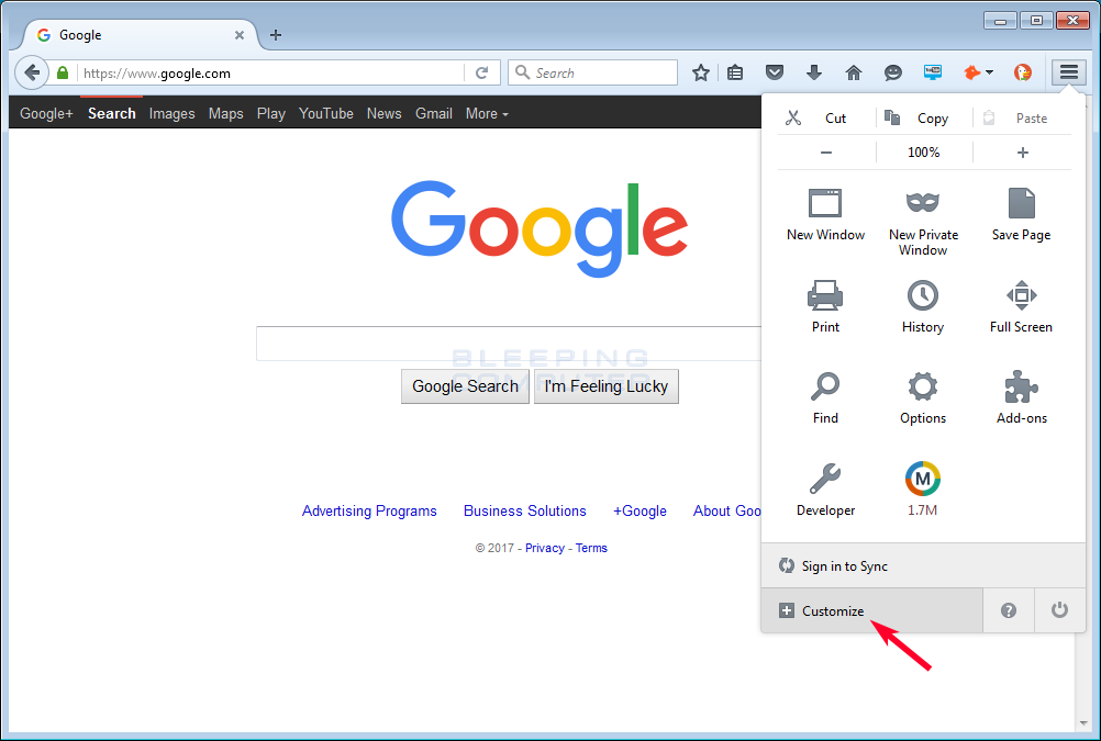 How to Remove a Button from the Firefox Menu
