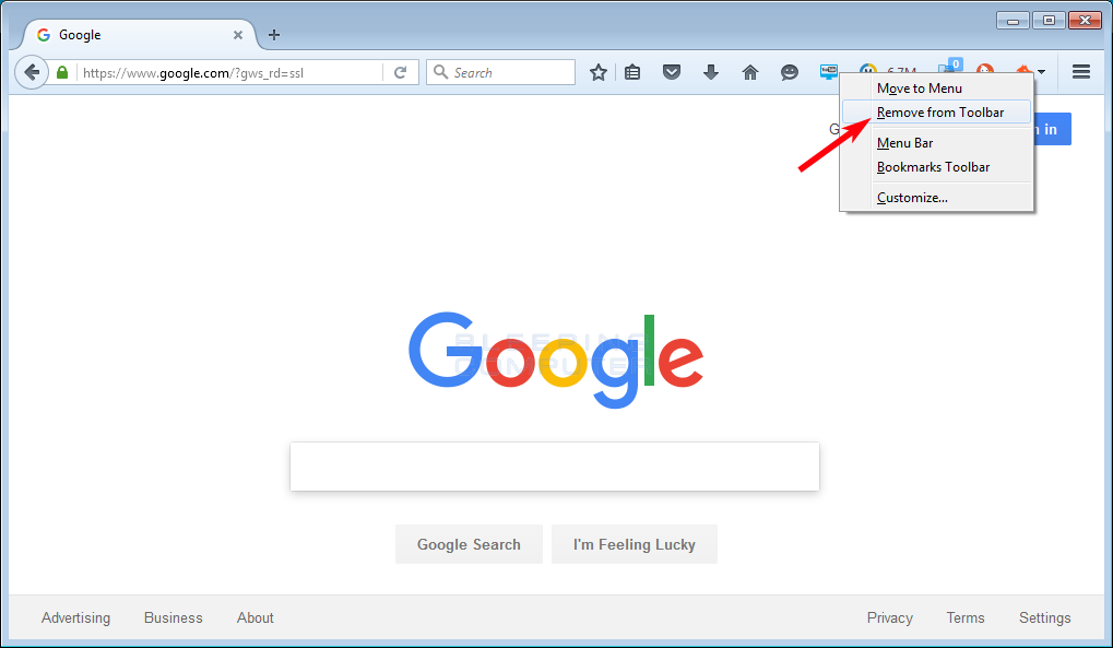How to Remove a Button from the Firefox Toolbar