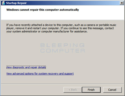 windows7 startup repair