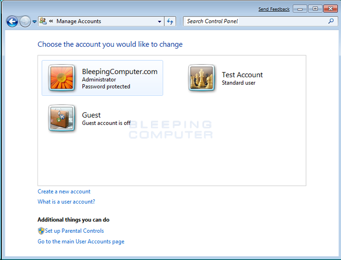 access administrator account windows 7 without password