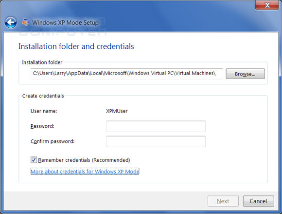 XP Mode Credentials