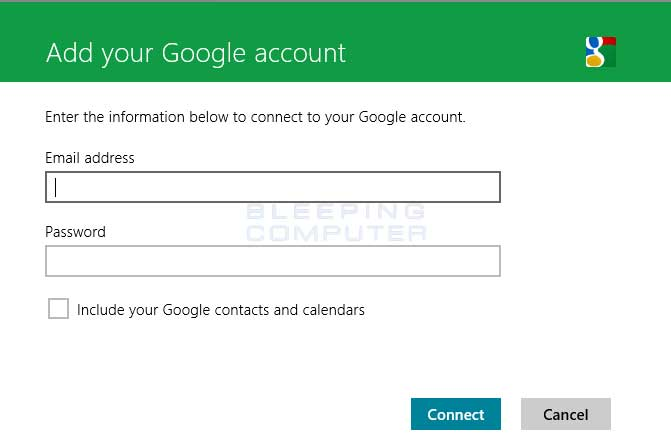 Google account prompt