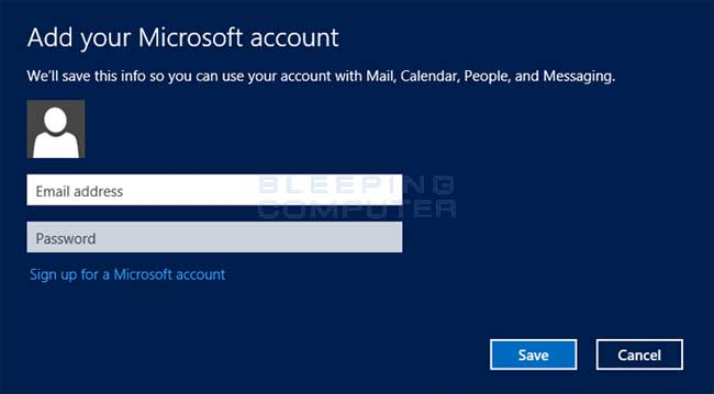 Microsoft Account prompt